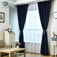 Sinogem Cartoon Star Curtain Decoration Drapes Children Bedroom Tulle Fabric Curtain Window Sheer Curtain Living Room Curtains(China)
