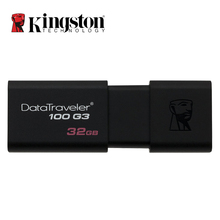 USB 3,0 de Kingston Pen Drive 16 GB 32 GB 64 GB 128 GB USB Flash Drive Mental Pendrive Stick anillo memoria Flash Memoria USB DT100G3(China)