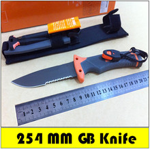 High Quality Fixed blade knife Survivors outdoor Pocket Knives Survival Knife Camping Hunting Knife 60HRC = Half Serration Blade