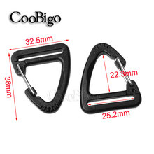 5pcs 50pcs 500pcs pack 1'' (25mm) Plastic Buckle Snap Hook Climbing Carabiner Hanging Keychain Backpack Strap Webbing#FLC502-25B