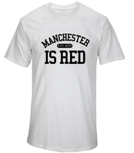 2017 New Fashion Manchester City Shirt United Kingdom Red Letter Print T Shirt Cotton Short Sleeve Men Tshirt Summer Tops(China)