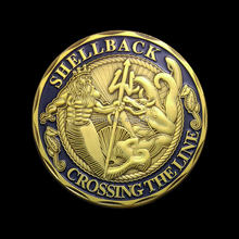 Shellback and Navy Coins,Free Shipping,5pcs/lot,The Bule Color United States Navy Coins,Crossing the line,United States Coins