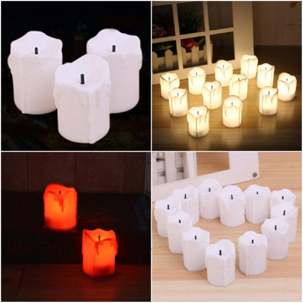 12 PCS of LED Electric Battery Powered Tealight Candles Warm White Flameless for Holiday/Wedding Decoration 1