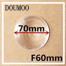 Diameter 70 mm Fresnel Lens Focal length 60 mm High light condenser Fresnel Lens used Solar concentrator Plane enlarge(China)