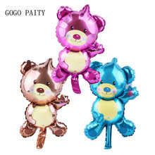 GOGO PAITY  shipping new mini Bear Teddy Bear foil balloon aluminum balloons birthday party decoration balloon wholesale baby