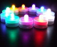 12pcs/set Mulit-color Church Decoration LED Electronic Candles Light Waterproof Tealight For Vases