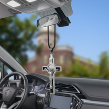 Car-Styling Metal Jesus Figurine Cross Crucifix Automobiles Decoration Hanging Pendant Auto Interior Decor Ornament Accessories(China)