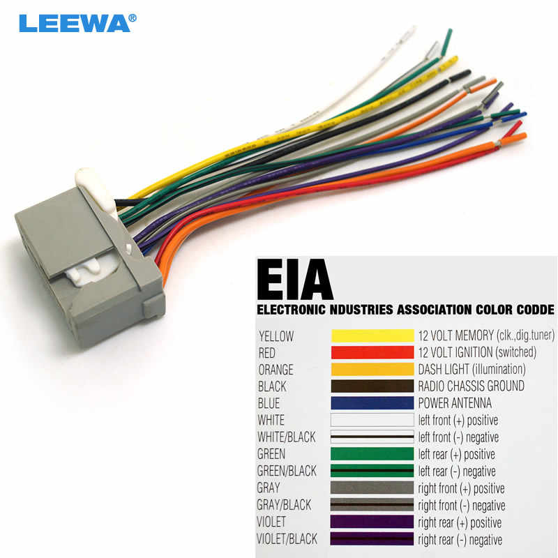 LEEWA Car Audio Stereo Wiring Harness For HONDA Odyssey ... on car audio voltage, car audio power supply, car audio wire management, car audio tools, car audio blue, car audio installer, car audio control, car audio power distribution, car audio lighting, car audio power wire, car audio accessories, car audio preamp, car audio insulation, car audio mounting hardware, car audio schematics, car audio controller, car audio capacitor, car audio fans, car audio relay, car audio battery bank,