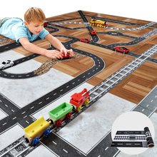 Track Car Toys For Children Play Car Games DIY Road Rail Belt Sticker Road Scene Toy Sign Road Sign Roadblock Traffic Sign(China)