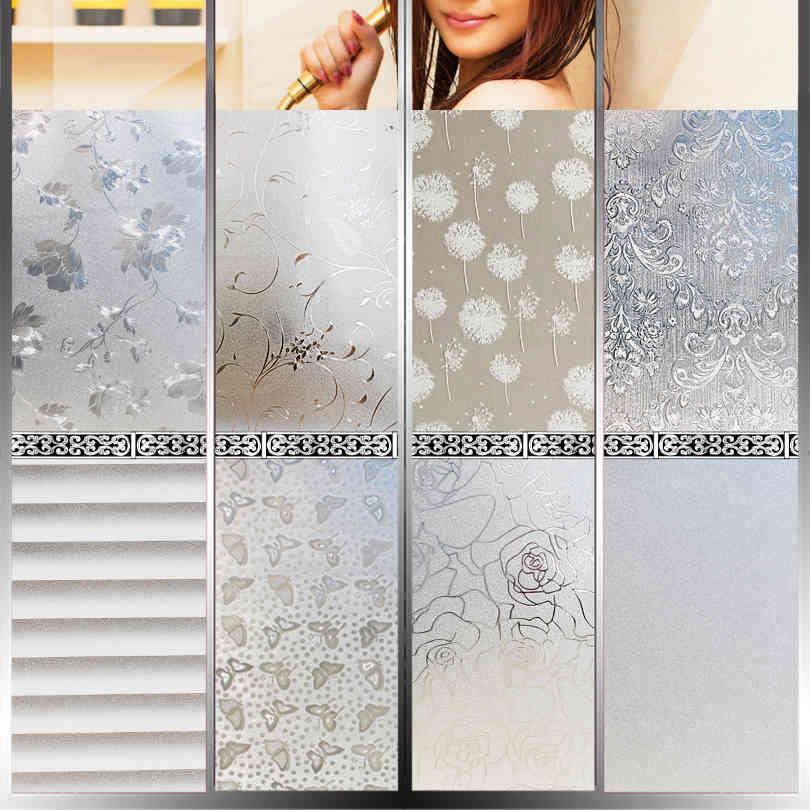 Upset without glue electrostatic tint toilet door opaque sticker is prevented bask in frosted window-206z<br><br>Aliexpress