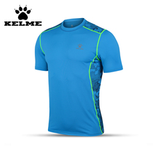 KELME Spain Brand Top Quality Tights Shirts Summer Mens Short Sleeve Fitness Bodybuilding Compression Soccer Training Shirts 08(China)