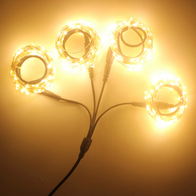 Christmas Copper vine holiday light 4pcs/lot Outdoor string fairy lighting 40M led Vines lighting 12V with adapte garden lights(China)