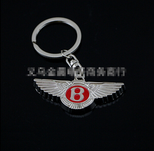 HARK 1 pc Bentley Logo 3D Car logo keychain Car Keychain Keyring Key Chain Key Ring ~ red color Free Shipping~ Welcome Wholesale(China)