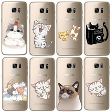 Ultra Thin Soft TPU Gel Super Cute Cat Case For Samsung Galaxy S3 S4 S5 Mini S6 S7 Edge S8 Plus Cartoon Mouse Phone Cover Shell(China)