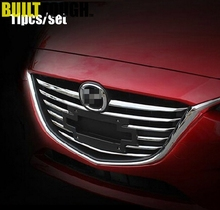 11PC CHROME GRILL INSERTS FOR MAZDA 3 AXELA 2014 2015 2016 FRONT RADIATOR HOOD MESH BILLET GRILLE COVER TRIM GARNISH MOLDING