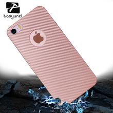 TAOYUNXI Cases For Apple iPhone 5 5S 5G 55S Cover iPhone SE 6C iPhone55s Cell Phone Bags TPU Carbon Fiber Protective Holster(China)