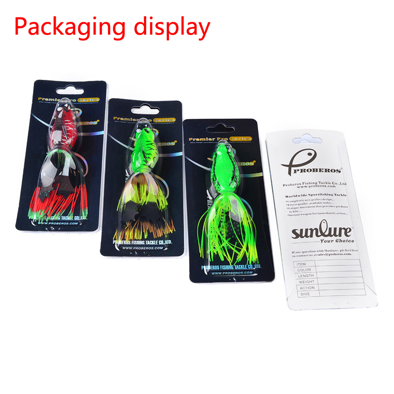 1 pcs Classic Road Bait Frog Lures Bait 6 Colors Fishing Lures 6.35CM/0.46 oz 13.18g Hard Bait Fishing Tackle<br><br>Aliexpress