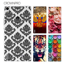 CROWNPRO Huawei Ascend P7 Case Cover Huawei P7 Case Colorful Painting Phone Back Protector Cover Case Huawei P7