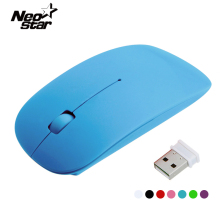 Portable Mini Optical Wireless Mouse 2.4Ghz With USB Receiver Thin Mice For Laptop Notebook PC Desktop Computer For Macbook Mac(China)