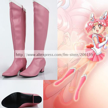 2015 New Arrival Fashion Sailor Moon sailor Moon Usa Cosplay Shoes Pink Heel Pumps Shoes Lady Boots Free Shipping