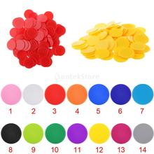Pack of 100pcs Casino Poker Chips Poker Game Counters Board Game Chips DIY Craft Chips 32mm(China)