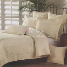 simple style embroidery 3pcs 1* bedspread 2 *pillowcases simple Countryside Quilt Set Queen Quilted Bedspreads(China)