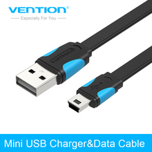 Vention Mini USB Cable 0.25m 0.5m 1m 1.5m 2m Data Sync USB Charger Cable For MP3 MP4 Player GPS Camera mobile phone Mini USB(China)