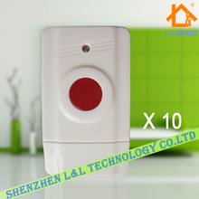10pcs/lot~New One Key Emergency SOS Button Alarm Button 433MHZ Wireless Panic Button for Home Security Alarm System