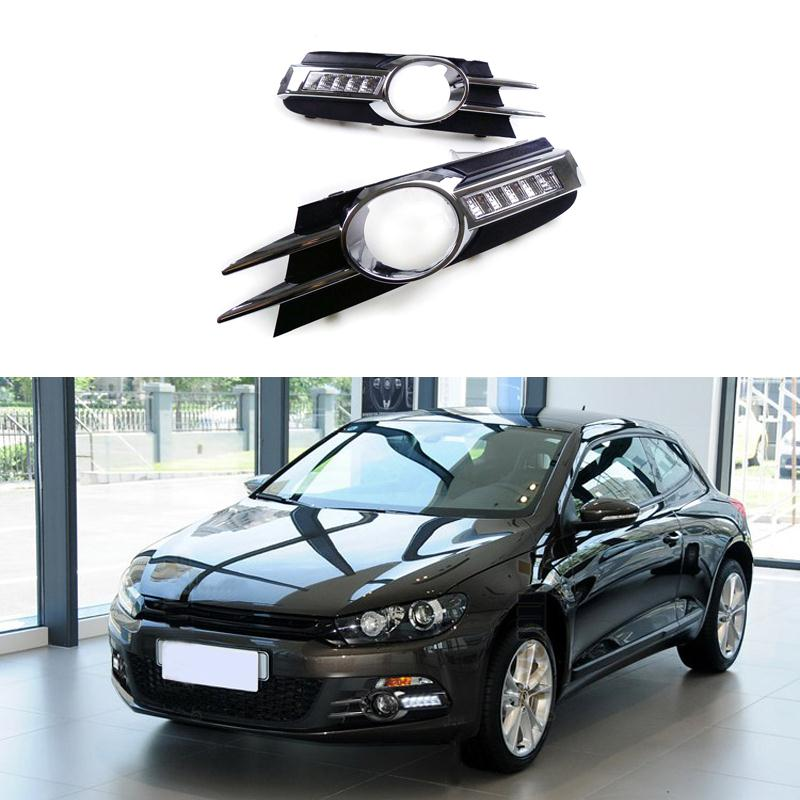 2 Pieces/Set Car Styling LED Daytime Running Lights Source DRL Fog Lamp Accessories For Volkswagen Scirocco 2010 2011 2012 2013<br><br>Aliexpress