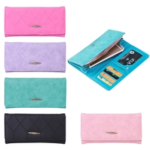 THINKTHENDO Women Lady Faux Leather Wallet Long Card Holder Purse Clutch Envelope(China)