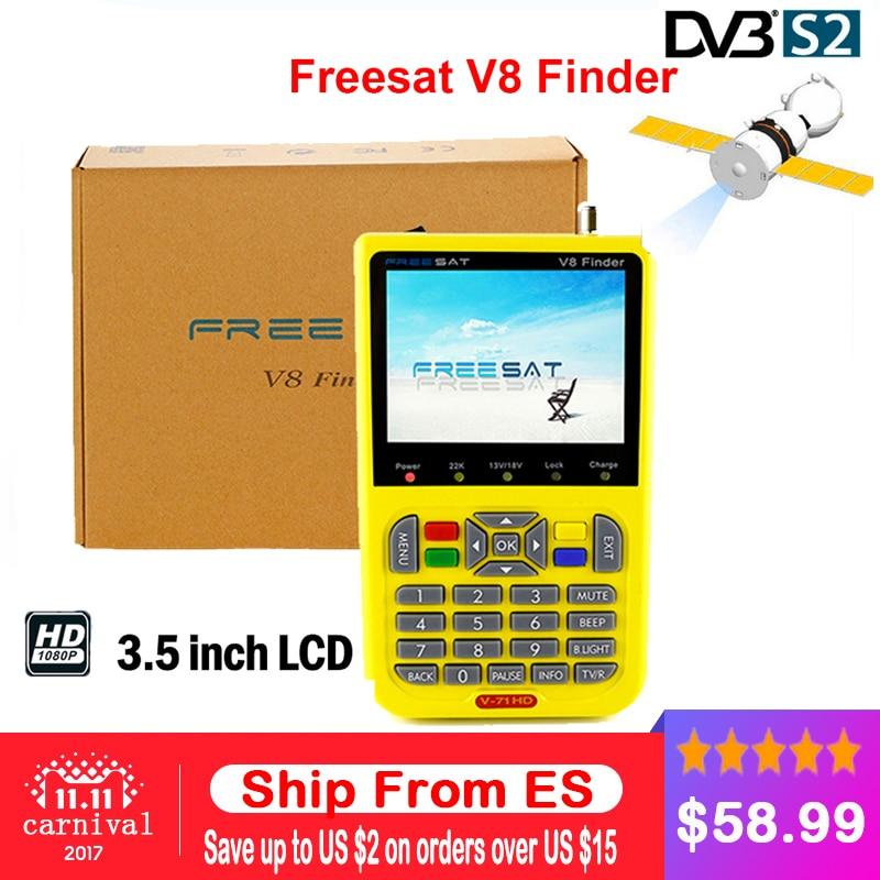 freesat v8 finder free shipping 3.5 inch LCD digital satFinder DVB-S2 vs sathero MPEG-4 Freesat satellite Finder Meter V-71 HD<br>