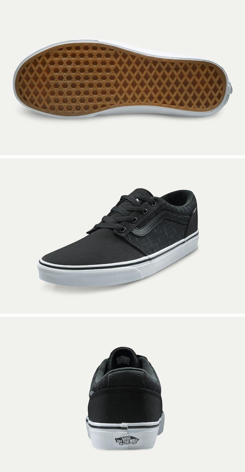 Original Vans Black and Purple and Blue Color Low-Top Men's Skateboarding Shoes Sport Shoes Sneakers