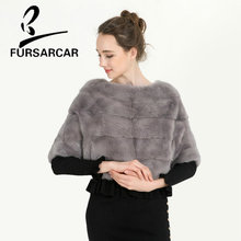 Buy 2017 Real Mink Fur Shawls Genuine Leather Shawl Pincho Multicolor O Neck Short Style Women's Winter Slim Stripe Scarfs BF-C0472 for $781.67 in AliExpress store