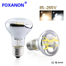 Foxanon E27 LED Bulb Filament Lamp Real Power 4W 6W 85-265V Global Common Light Edison LED Replace Incandescent 60W 100W R63