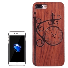 For iPhone 7 Plus Cover Fundas Wooden Artistic Carving Pattern Rosewood+ PC Bordure Protective Back Shell For iPhone 7plus Coque(China)