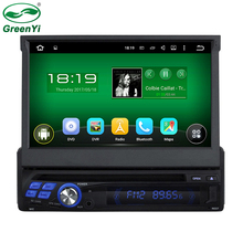 GreenYi Quad Core CPU Android 5.1.1 Universal One Single Din 1 Din Car DVD Multimedia Player Stereo Capacitive Screen GPS Radio