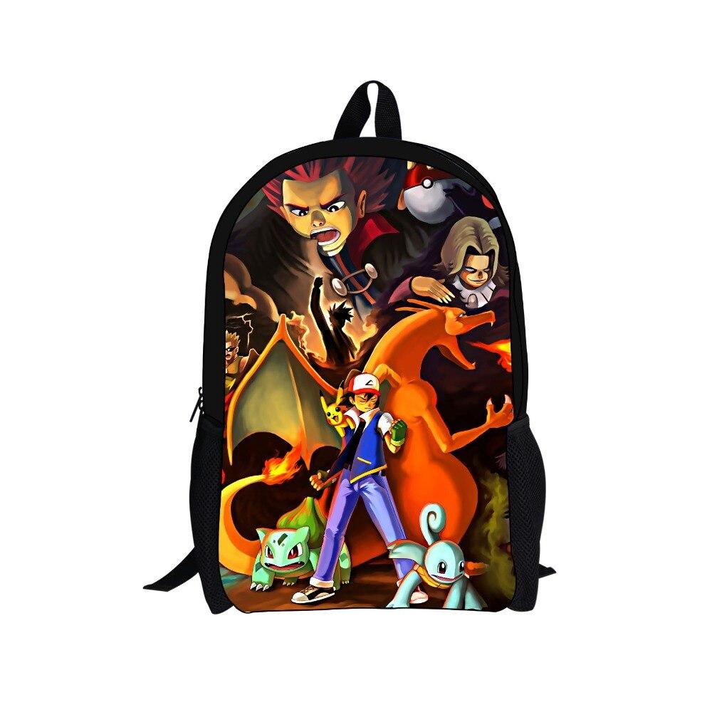 Hot Children Cartoon Pokemon Backpack Pikachu Charizard Printing Backpacks for Teenage Girls Boys Bagpack Kid School Bag Mochila<br><br>Aliexpress