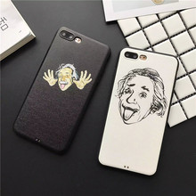 Latest The old man Einstein's jokes Case for iPhone7 7Plus Soft TPU silicone SP series class iPhone6 6S 6Plus Back Cover Shell