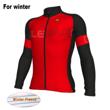 2017 Ale Team Men New Thermal Fleece Cycling Jersey Winter Long Sleeves Warm Bike Clothes Ropa Ciclismo Maillot MTB Bicycle Wear