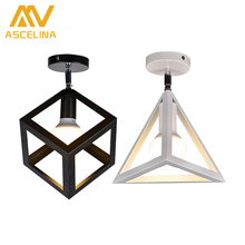 American Vintage LOFT Single Style Ceiling Light Corridor Entrance Balcony Room Ceiling Lamp Indoor Lighting Fixture Square lamp