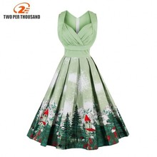 3XL 4XL Plus Size Women Pin Up Dress Retro Vintage 1950s 60s Rockabilly Floral Swing Summer Dresses Elegant Tunic Robe Vestidos(China)