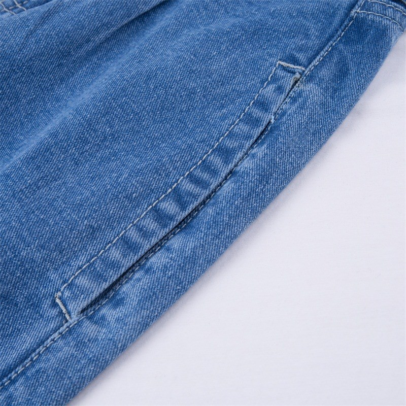 Women's Clothing Guuzyuviz Vintage Casual Autumn Winter Jeans Woman Scratched Washed Cotton High Waist Patch Work Denim Pants Mujer Strong Packing