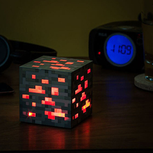 Minecraft Light Up Redstone Ore Square Minecraft Night light LED Minecraft Figure Toys Light Up Diamond Ore #DB(China)
