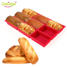 Delidge 1pc 9Holes Silicone Cake Mold 3D High Temperature Resistance Sugarcraft Bread Fondant Cake Baking Mold DIY Baking Tools(China)