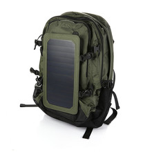 Outdoor Solar Backpack Solar Charger Back Pack Bag With Removable 6.5W Solar Panel Sunpower Bag outdoor bag(China)