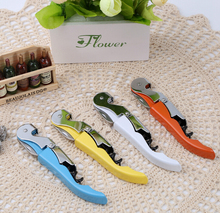 50PCS Waiter Wine Tool Bottle Opener Sea horse Corkscrew Knife Pulltap Double Hinged Corkscrew