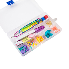 Hoomall Brand Knitting Tools Set Crochet Hooks Knitting Needles Markers Scissor Pins Sewing Accessories With Case Box