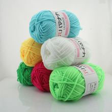 Home DIY Hand Knitting  Yarns For  Crocheting . Baby  Cotton   Yarns  Mixed  6pcs  in 1 Pack Free Shipping