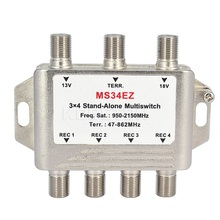 Newest MS34EZ 3x4 Satellite MultiSwitch Splitter FTA TV LNB Switch Cascade satellite 3 in 4 Multiswitch For DVB-S2 DVB-T2