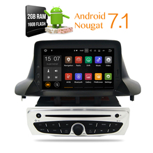 Android7.1 Car Stereo DVD Player GPS Glonass Navigation for Renault Megane 3 Fluence 2GB RAM Video Multimedia Radio  headunit